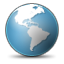 earth, world, planet, Browser SteelBlue icon