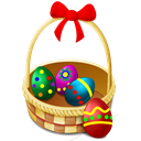 eggs, easter, shops, Basket Black icon