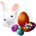 Chokolate, easter, Bunny Black icon