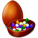 easter, chokolater, Candy Black icon