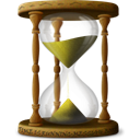 sandclock, Wait, Hourglass, time Black icon
