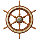 wheel, ship Black icon