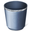 recycle bin, Empty, Trash DarkSlateGray icon