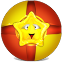 Toy, Ball Firebrick icon