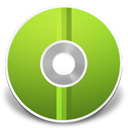green, disc, Cd YellowGreen icon