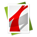 File, adobe, reader Black icon