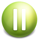 Pause OliveDrab icon