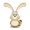 egg, Bunny, easter Black icon