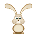easter, Bunny Black icon