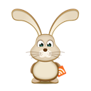 Bunny, Rss, easter Black icon
