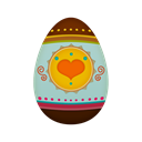 egg, easter Black icon