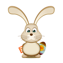 rabbit, Rss, easter, Bunny Black icon