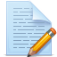 File, document, paper, write, pencil PaleTurquoise icon