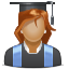 student, user, pupil, Girl, lady, woman DarkSlateGray icon