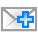 envelope, Add DarkGray icon