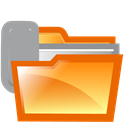Attach, Folder Chocolate icon