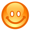 happy, happy face, smile, happiness, Emoticon Chocolate icon