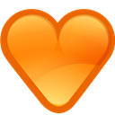 love, Heart DarkOrange icon