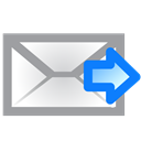 Email, envelope, Forward, right DarkGray icon