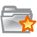 Folder, star LightSlateGray icon
