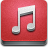 music IndianRed icon
