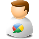 Buzz, google, user Black icon