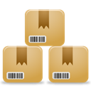 Customers, Boxes, Products, inventory BurlyWood icon