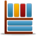 shelf, Library, Bookcase Icon