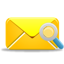 search, mail Gold icon