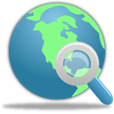 search, internet, globe SteelBlue icon
