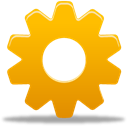preferences, Cog, settings, wheel, Gear Orange icon