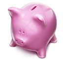 pink, piggybank, Money Black icon