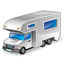 vehicle, motorhome, Car Black icon