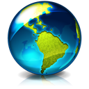 earth, Browser, world, internet MidnightBlue icon