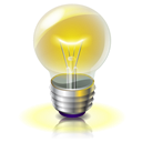 light, Idea, bulb Black icon