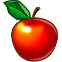 food, Apple, Fruit Black icon