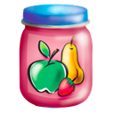 Jar, puree, food, fruits Black icon