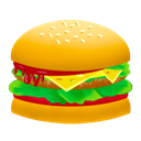 food, hamburger, Fast food, junk food, Burger Orange icon
