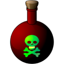 death, skull, poison Black icon