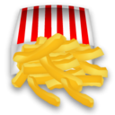 128, french, Fast food, fries Goldenrod icon