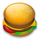 food, hamburger, Fast food, 128 Black icon