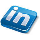 Linkedin, social media Black icon