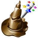 hat, wizard Black icon