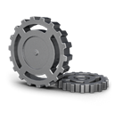 wheel, Gear, Cog Black icon