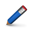 Edit, write, pencil Black icon