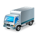 truck, Goods, transport Black icon