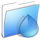 Folder, Aqua, torrents, smooth CornflowerBlue icon