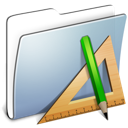 Folder, Applications, smooth, Graphite LightSteelBlue icon