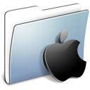 Folder, smooth, Apple, Graphite LightSteelBlue icon