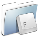 Graphite, Folder, Fonts, smooth Gainsboro icon